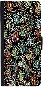 Snoogg Abstract Floral Background Designer Protective Phone Flip Case Cover For Samsung Galaxy J7