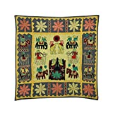 Rajrang Home Décor Embroidered Patch Work Olive Green Wall Hanging - B00TQRLLD8