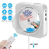 Portable Bluetooth CD Player, Wall Mountable CD DVD Player HDMI Built-in HiFi Speakers with Remote for TV, Music Player Support FM Radio USB SD Card AV Jack 3.5mm Headphone Jack (Color: silver, Tamaño: one size)