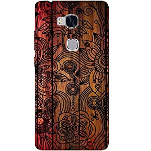 Casotec Dark Wooden Background Design Hard Back Case Cover for Huawei Honor 5X