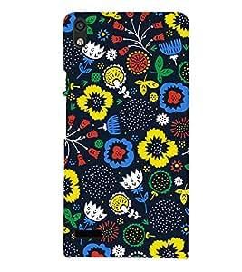 Floral Wallpaper Cute Fashion 3D Hard Polycarbonate Designer Back Case Cover for Huawei Ascend P6