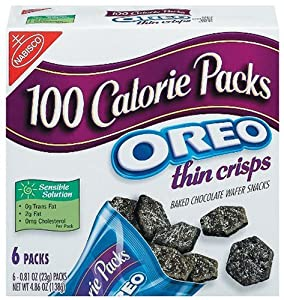 100 Calorie Packs Oreo Thin Crisps, 6-Count Packs (Pack of 2)