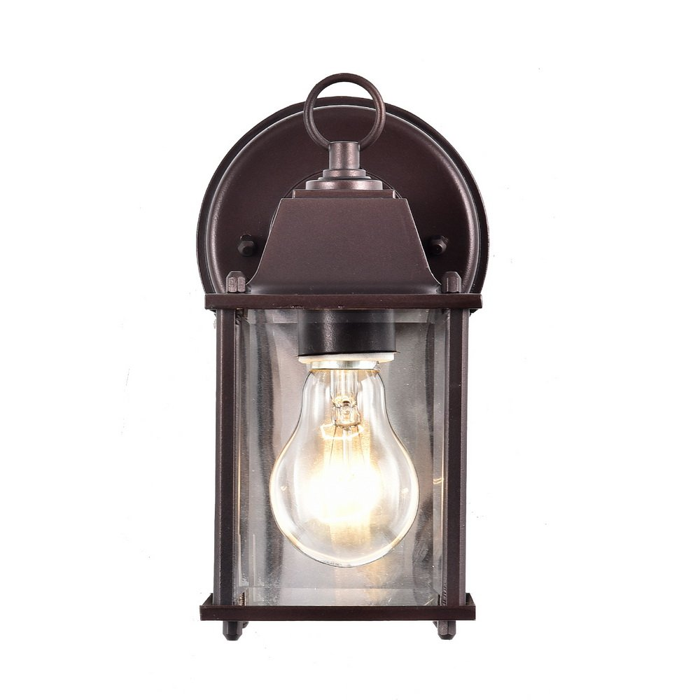 Truelite Vintage Style Outdoor Wall Sconce 1 Light Industrial Clear Glass Panels Wall Lanterns 2
