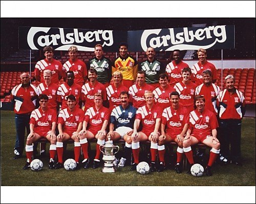 Photographic Prints of 01.08.1992 Official team photo from Liverpool FC Pictures