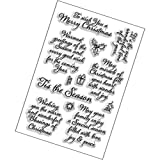 Perfectly Clear Stamp, 4 by 6-Inch, Tis Season (Limited Edition) (Color: Limited Edition, Tamaño: Limited Edition)