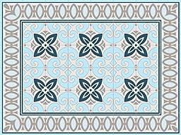Oriental 60x80cm Mat Tile Rug Carpet PVC Vinyl Floor Kitchen Salon Decoration TM-210