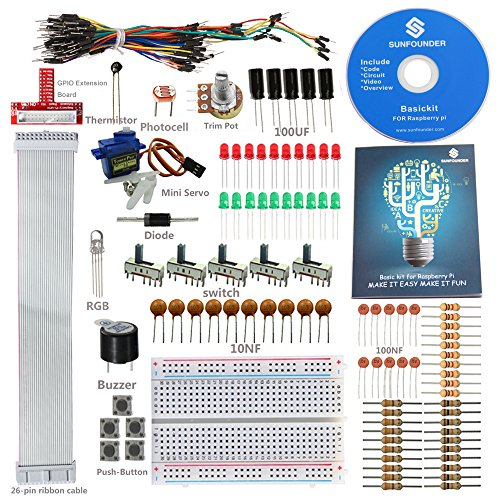 SunFounder Sidekick Basic Starter Kit w/ 26-Pin GPIO Extension Board Breadboard, Jumper wires, Color Led, Resistors, Buzzer for Raspberry Pi (Electrical Starter Kit compare prices)