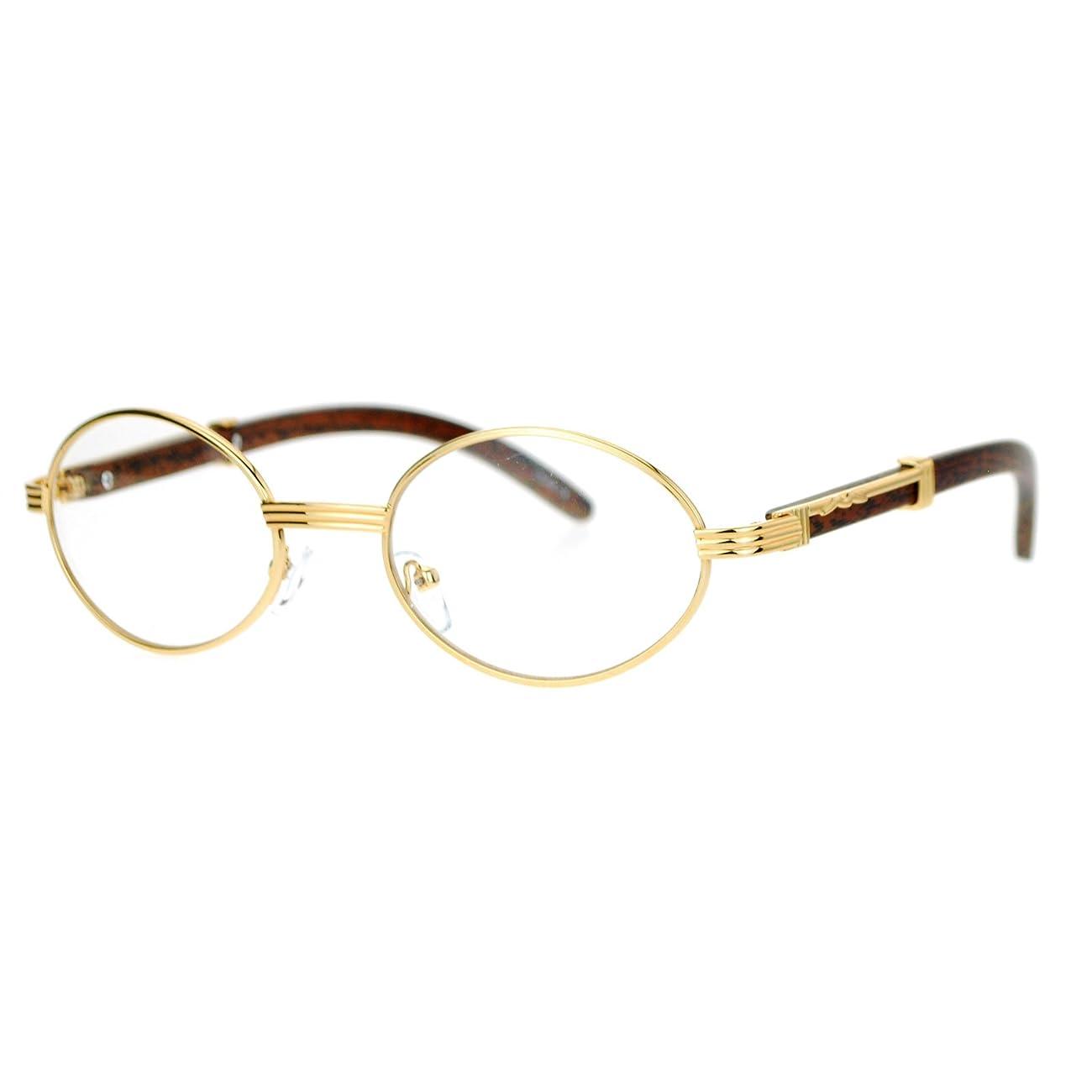 SA106 Art Nouveau Vintage Style Oval Metal Frame Eye Glasses 0