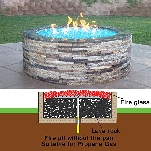 Fr12k diy 12 round fire pit fire table deluxe kit w for Amazon prime fire pit