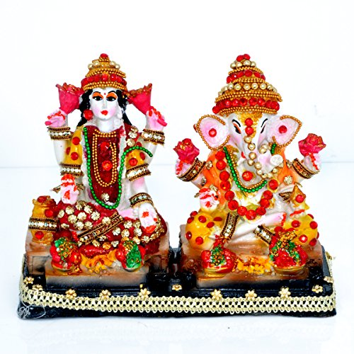 Laxmi Ganesh Decorative Polyresin Statue By Hashcart