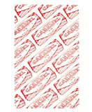 Tunnock's Caramel Wafer Repeat Biscuit Organic Unbleached Cotton Tea Towel by Gillian Kyle