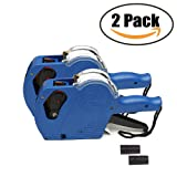 MX5500 EOS Price Tag Gun Labeler Labeller - 2PCS 8 Digits Pricing Gun Labeler Kits Included Labels & Ink Refill (Blue)
