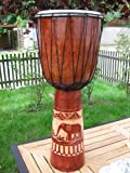 50cm Djembe Drum Bongo Elephant Carving Super Sound Handmade E1