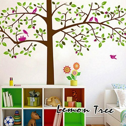 rainbow-wall-stickers-wall-decor-removable-decal-sticker-birds-in-giant-green-tree-by-wall-stickers