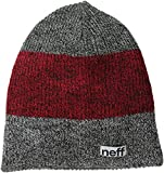 neff-Men's-Trio-Beanie-Black-Maroon-Charcoal-One-Size