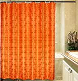 Eforgift Solid Pattern Waterproof Mildew-repellent Shower Curtain, Polyester Bath Curtains,72-inch By 78-inch (Orange)