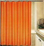 Eforgift Solid Pattern Waterproof Mildew-repellent Shower Curtain, Polyester Bath Curtains,72-inch By 78-inch (Orange)