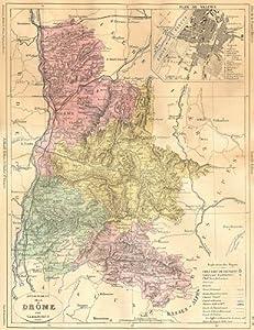 DRÔME: Departement de Drome; plan Valence, 1881 map