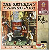 MasterPieces Saturday Evening Post Norman Rockwell Road Block Jigsaw Puzzle, 1000-Piece