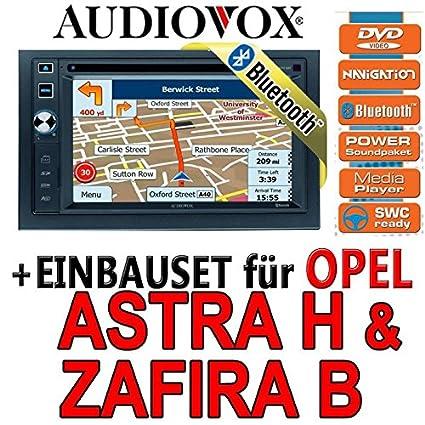 Opel astra h, zafira b argent-audiovox vXE 6020 nAV navigationsradio uE autoradio navi dVD avec écran tFT bluetooth