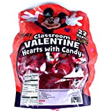 Disney Mickey Classroom Valentine Hearts with Candy 22 Count
