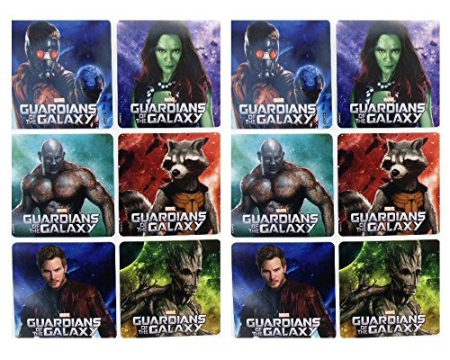 "GUARDIANS OF THE GALAXY- Guardians of the Galaxy Birthday Party Favor Sticker Set Consisting of 45 Stickers Featuring 6 Different Designs Measuring 2.5"" Per Sticker - 1"