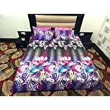 Peponi Multi Flower Printed Poly Cotton Double Bedsheet With 2 Pillow Cover