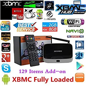 K-R42 Quad Core Google Android 4.2.2 RK3188 28nm Cortex-A9 1.6Ghz Mini TV BOX HDMI HDD Player 2G/8G External Wifi Antenna Ethernet Port with IR Remote Controller - Black
