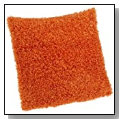Orange Soft Poodle Fluffy Knife Edge Couch Pillow