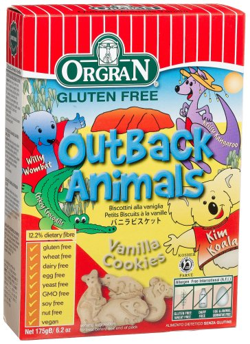 OrgraN Outback Animals Vanilla Cookies, 6.2-Ounce Boxes (Pack of 8)