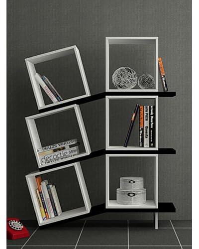 Decortie by Homemania Libreria Balance Bianco/Nero