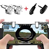 Mobile Game Controller[Upgrade Version] VISION SPORTS Sensitive Shoot and Aim Keys L1R1 and Gamepad for PUBG/Fortnite /Knives Out/Rules of Survival, Mobile Gaming Joysticks for Phones(1Pair+1Gamepad) (Color: natural color, Tamaño: 1)