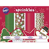 Wilton 710-1309 4-Pack Holiday Mega Sprinkle Set