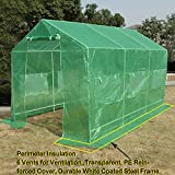 Quictent Reinforced PE Cover 12'x7'x7' Portable Backyard Large Greenhouse Green Garden Hot House