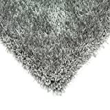 Modern Super Shaggy Soft Thick Shag Pile Rugs In Silver 120x170cm or 4' x 5'.7''