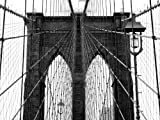 PHOTO ARCHITECTURE DETAIL BROOKLYN BRIDGE NEW YORK CITY USA 30x40 cms POSTER BMP10843
