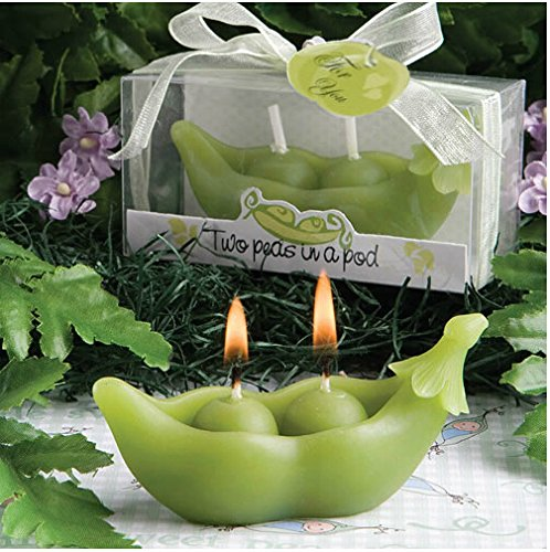 4pcs Pea Pods Smokeless Birthday Candle Wedding Candle Favors led candle light wedding birthday decor electronic led candle light smokeless flameless candle electronic pillar candle for home