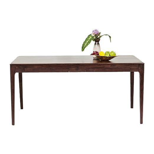 Table Brooklyn walnut 4 tiroirs 160x80cm Kare Design
