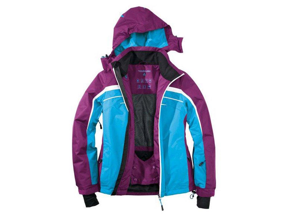 Damen Skijacke Gr. 38 Farbe: lila-blau-weiss Snowboardjacke Schneejacke Winterjacke Jacke günstig bestellen