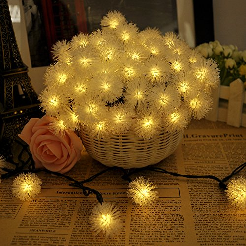 Lychee® Tilted Solar Panelschuzzle Solar Fairy String Lights For Room Home Garden Christmas Party Decoration (Warm White, 12M 80Leds)