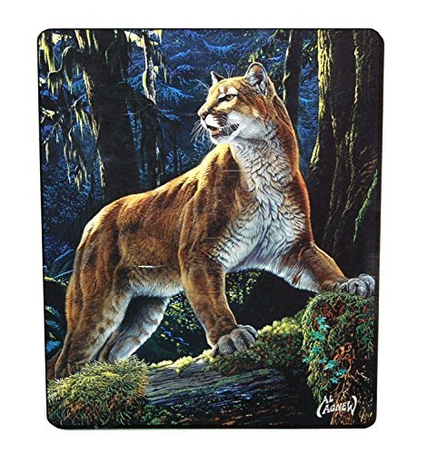 Super Soft Fuzzy Fur Warm Mountain Lion Plush Throw Blanket es 50x60inch