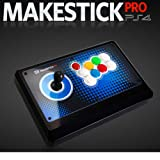 IST MAKESTICK PRO Wireless (Built-in Dual Shock 4) Gaming Gadget Arcade Joystick Controller for Playstation PS4 (Airback Lever, OBSF Sanwa Buttons)
