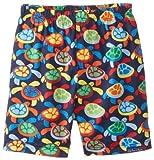 JoJo Maman Bebe Baby-Boys Newborn Swim Shorts, Navy Turtle, 0-3 Months