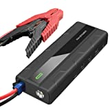 Car Jump Starter RAVPower 1000A Peak Current Quick Charge 3.0 12V 14000mAh (for All 12V Gas & Diesel Engines up to 7L) Power Bank with 2.4A iSmart Ports Built-in LED Flashlight Car Battery Booster (Color: Black)