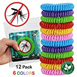 Mosquito Repellent Bracelet for Kids – 12 pack, DEET Free, 100% Natural Insect Repeller, No Spray Pest Control Safe For Babies, Kids, Adults. Perfect for Outdoor and Indoor. Waterproof, Multicolors