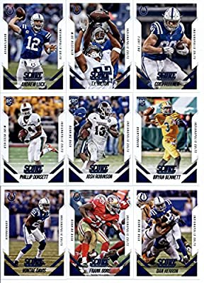 2015 Score Football Cards FACTORY SEALED Team Set with Rookies - Indianapolis Colts (13 Cards) Includes Andrew Luck, T.Y. Hilton, Coby Fleener