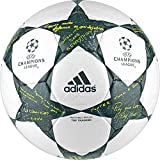 adidas Performance Champion's League Finale Top Training Soccer Ball, White/Vapor Steel Grey/Tech Green, Size 4