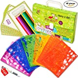 Drawing Stencils Set for Kids (49-Piece) - Perfect Creativity Kit & Travel Activity, Arts and Crafts for Girls & Boys with over 300 Shapes, Educational Toys Age 3+, Ideal Kids Gifts!