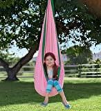 HugglePodTM Indoor/Outdoor Canvas Hanging Chair, in Pink