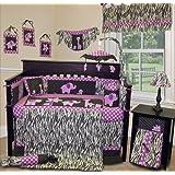 SISI Baby Girl Boutique - Animal Planet Purple - 13 PCS Crib Bedding